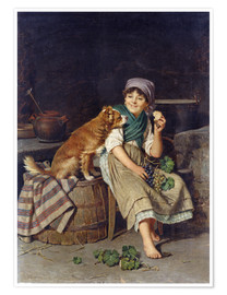 Poster Premium Girl with Dog