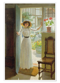 Poster  Alla porta d'ingresso - William Henry Margetson