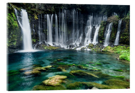 Stampa su vetro acrilico  Turquoise blue waterfalls - Jan Christopher Becke