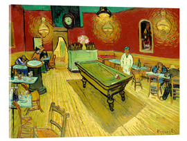 Stampa su vetro acrilico  Night Cafe in Arles - Vincent van Gogh