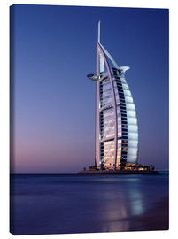 Stampa su tela  The Burj Al-Arab at dusk - Ian Cuming