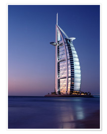 Poster Premium  The Burj Al-Arab at dusk - Ian Cuming