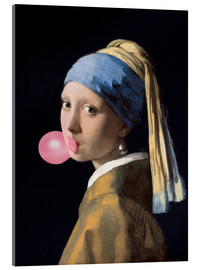 Vetro acrilico  The Girl with a Pearl Earring (gum) - Jan Vermeer