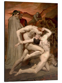 Alluminio Dibond  Dante and Virgile - William Adolphe Bouguereau
