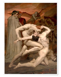 Poster Premium  Dante e Virgilio all'Inferno - William Adolphe Bouguereau