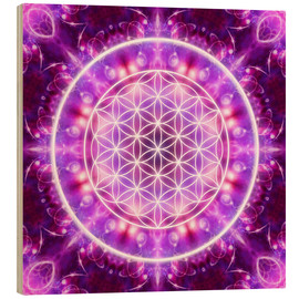 Legno  Flower of Life - Transformation - Dolphins DreamDesign