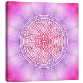 Tela  Flower of Life - Unconditional Love - Dolphins DreamDesign
