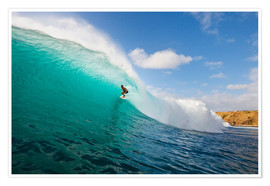Poster Premium  Surfer riding a perfect wave - MakenaStockMedia