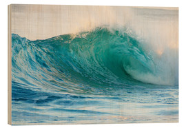 Stampa su legno  Shiny wave in Hawaii - Vince Cavataio