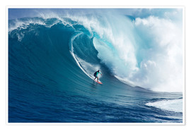 Poster  Giant wave off Maui - Ron Dahlquist