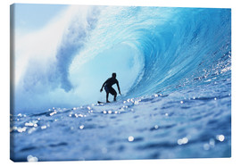 Stampa su tela  Surfer in the pipeline Barrel - Vince Cavataio
