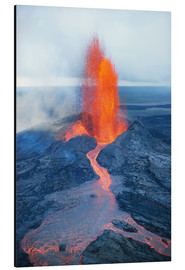 Stampa su alluminio  Lava fountain - Reggie David