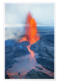 Poster Premium  Lava fountain - Reggie David