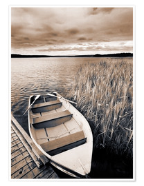Poster  Boat in Lake Burntstick - Darwin Wiggett
