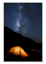 Poster Premium Tent and starry sky