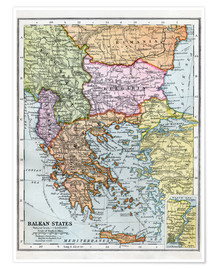 Poster Premium The Balkan States Between The First And Second World Wars