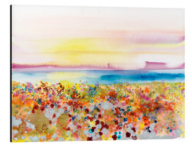 Stampa su alluminio  Field Of Joy, Abstract Landscape - Tara Thelen