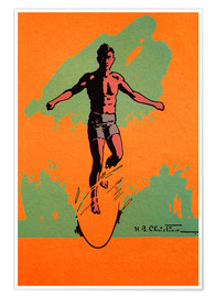 Poster Premium  The Surfer - Hawaiian Legacy Archive