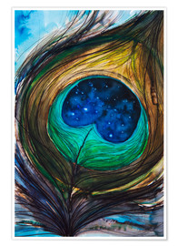 Poster Premium  Peacock feather - Tara Thelen