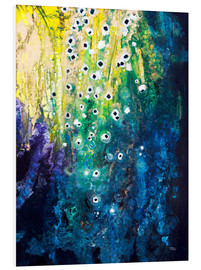 Stampa su schiuma dura  Flowers and waterfall after Klimt - Tara Thelen