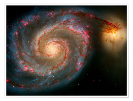 Poster Premium The Whirlpool Galaxy (M51) And Companion Galaxy