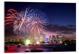 Stampa su vetro acrilico  New Year's Eve in Sydney - Matteo Colombo
