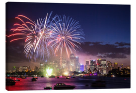 Stampa su tela  New Year's Eve in Sydney - Matteo Colombo