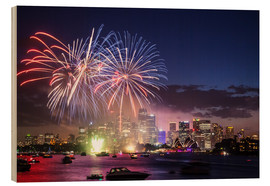 Stampa su legno  New Year's Eve in Sydney - Matteo Colombo