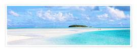 Poster Premium Couple on a white beach, Cook Islands