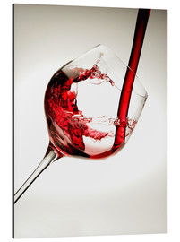 Alluminio Dibond  Red wine in a glass - Richard Desmarais