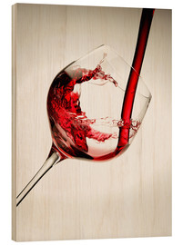 Stampa su legno  Red wine in a glass - Richard Desmarais