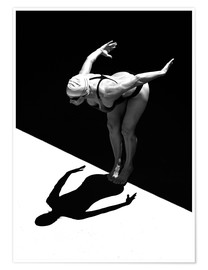 Poster Premium  A woman jumps into the water I - Ben Welsh