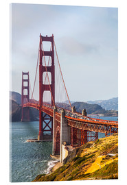 Stampa su vetro acrilico  Golden Gate Bridge, San Francisco - Leah Bignell