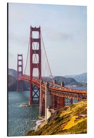 Stampa su alluminio  Golden Gate Bridge, San Francisco - Leah Bignell