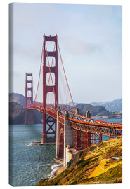 Stampa su tela  Golden Gate Bridge, San Francisco - Leah Bignell