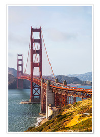 Poster Premium  Golden Gate Bridge, San Francisco - Leah Bignell