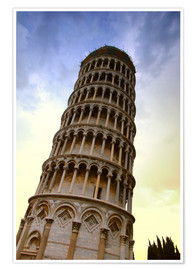 Poster Premium The Leaning Tower Of Pisa Tuscany Italy