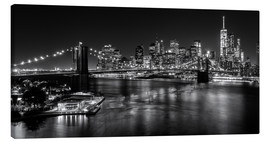 Tela  New York City by Night (monochrome) - Sascha Kilmer