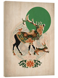Legno  stag, bird and hare - Mandy Reinmuth