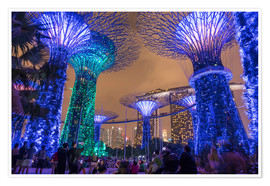 Poster  Supertrees, Singapore, Asia - Peter Schickert
