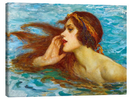 Stampa su tela  A little sea maiden - William Henry Margetson