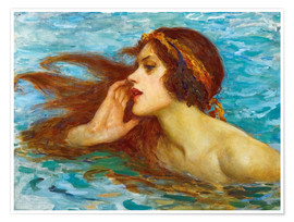 Poster Premium  A little sea maiden - William Henry Margetson