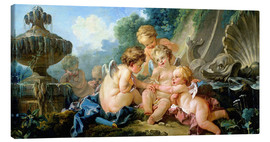 Stampa su tela  Angels in the Game - François Boucher