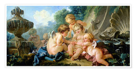 Poster Premium  Angels in the Game - François Boucher