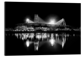 Vetro acrilico  Weserstadion black and white - Tanja Arnold Photography
