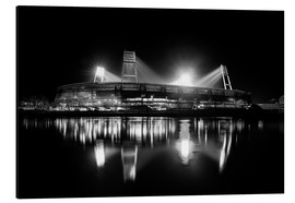 Alluminio Dibond  Weserstadion black and white - Tanja Arnold Photography