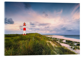 Stampa su vetro acrilico  Lighthouse in the morning light (Sylt / Elbow / List East) - Dirk Wiemer