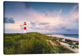 Stampa su tela  Lighthouse in the morning light (Sylt / Elbow / List East) - Dirk Wiemer
