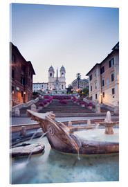 Stampa su vetro acrilico  Famous Spanish Steps and Bernini fountain, Rome, Italy - Matteo Colombo