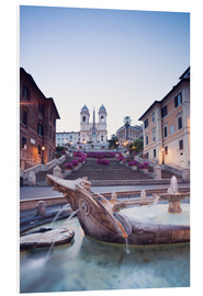 Stampa su schiuma dura  Famous Spanish Steps and Bernini fountain, Rome, Italy - Matteo Colombo